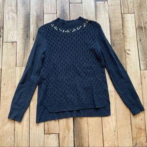 Simply Vera Wang Jeweled Sweater
